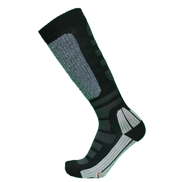Wholesale youth cheap dry-fit terry coolmax eurosock ski socks