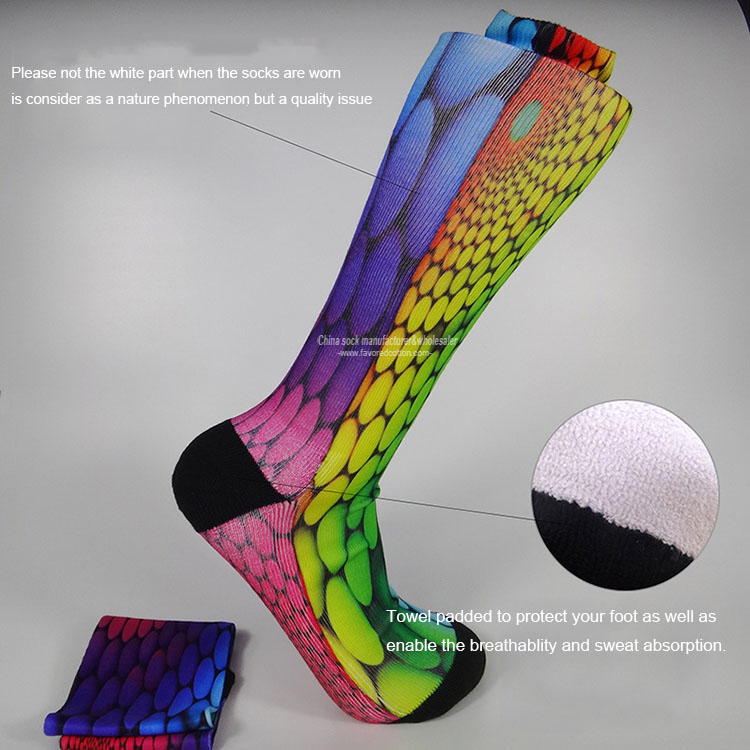 Manufacturer wholesale custom sublimation crew socks
