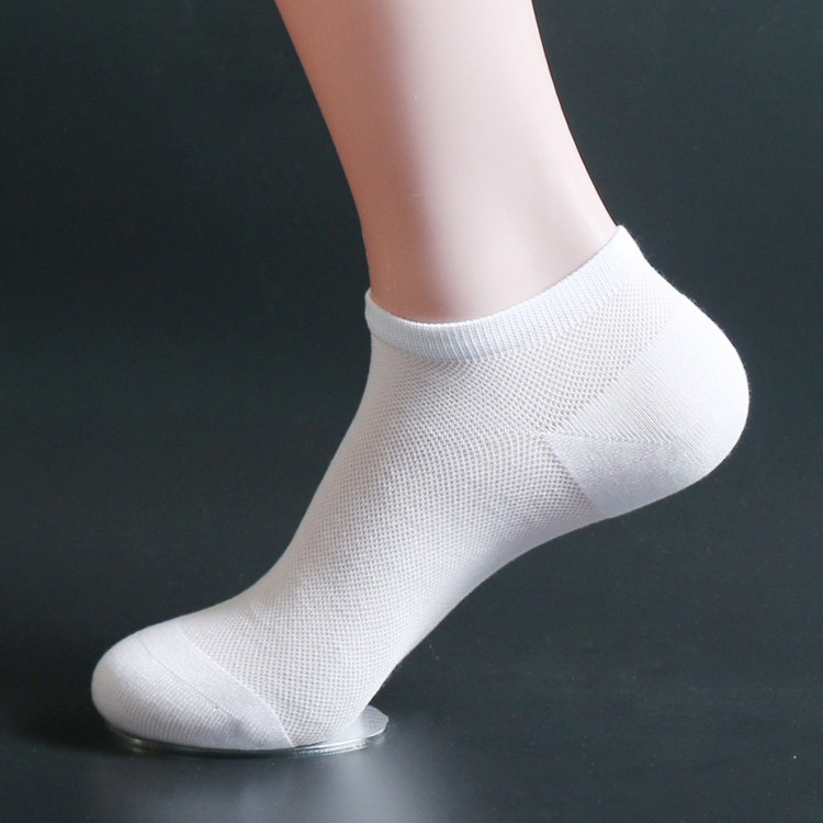 Hand link mens summer anti-bacterial bamboo ankle socks