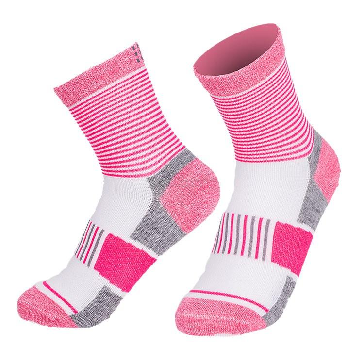 Manufacturing pink super breathable cycling socks womens