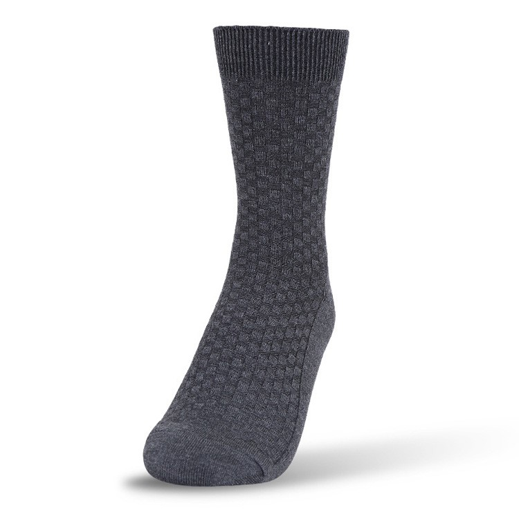 Sourcing best double cylinder checked bamboo socks for men