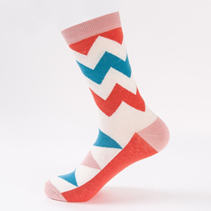 Wholesale english style men's vivid color funky cotton socks