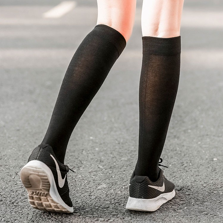 Wholesale breathable mesh nurse nylon compression socks