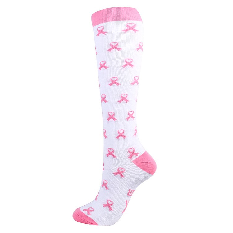 Wholesale custom logo knee high compression socks with ribbons