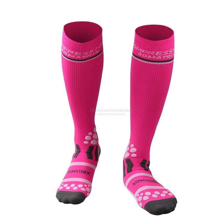 Wholesale custom massage dots compression bicycle socks