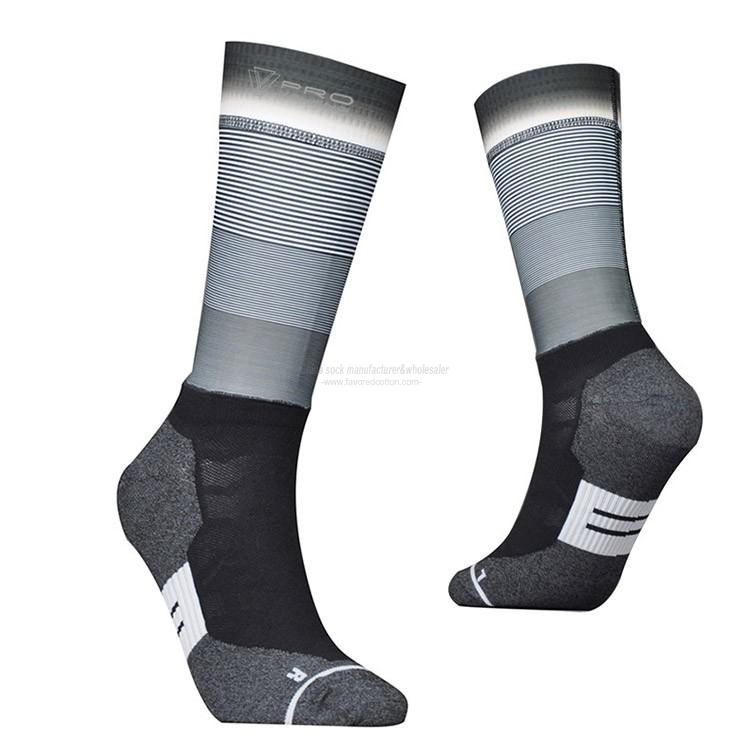Wholesale mens novelty cycling socks custom low minimum